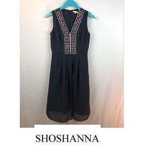 Shoshanna Embellished Shift Dress Navy Size 0